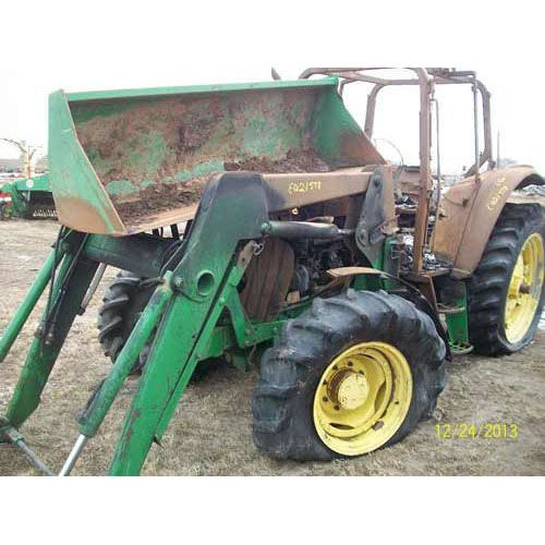 Used John Deere 6420 tractor - salvaged for used parts. Call 877-530-4430 for parts.