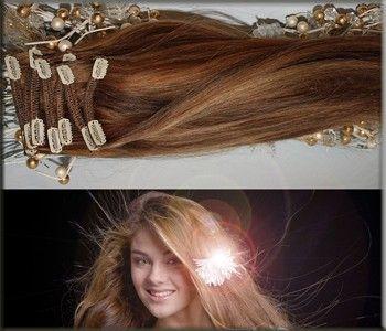 RUSSISCHE ECHTHAAR CLIP IN EXTENSIONS. Alle Haare verfügen über eine intakte Schuppenschicht und besitzen Glanz, haltbare Farben sowie Sprungkraft und Elastizität. Unsere Russische Naturhaare werden sanft gebleicht und gefärbt. Den europäischen Damen, die Haarfarben von hellbraun bis hellblond haben, empfehlen wir die russischen Echthaar. Clip-Ins, weil sie hellere Ausgangsfarben haben. http://www.your-hair-world.de/yhw-clip-in-extensions-exclusive/russische-clip-ins/