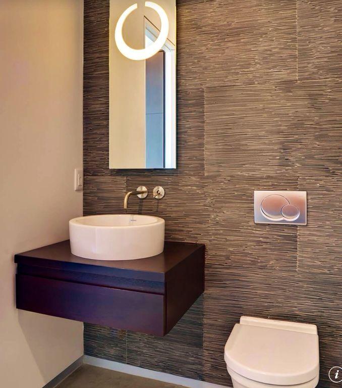 Modern Powder Room with Duravit 115770465 Sigma01 Flush Plate In Matte Chrome, specialty door, limestone floors, Powder room