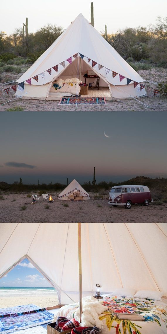 boho glamping tent (for sale on Etsy!)
