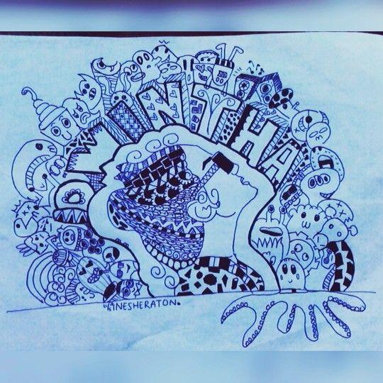 Still learning for doodle. Wdyt?? #doodle #doodles #doodling #pattern