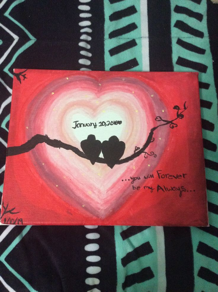 A painting for your girlfriend boyfriend Simple and easy