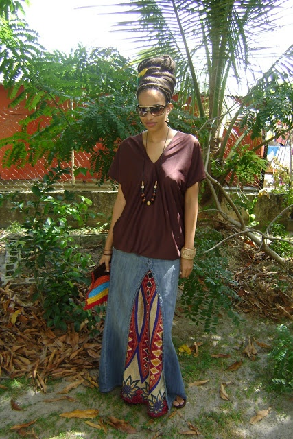 Rasta Wife Line: How to Sew a Blouson Top gotta ask her how to make the skirt!