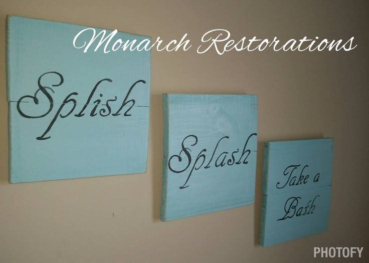 Splish Splash take a bath sign, bathroom decor kids, splish splash art. Bathroom decor by MonarchRestorations on Etsy https://www.etsy.com/listing/233864768/splish-splash-take-a-bath-sign-bathroom