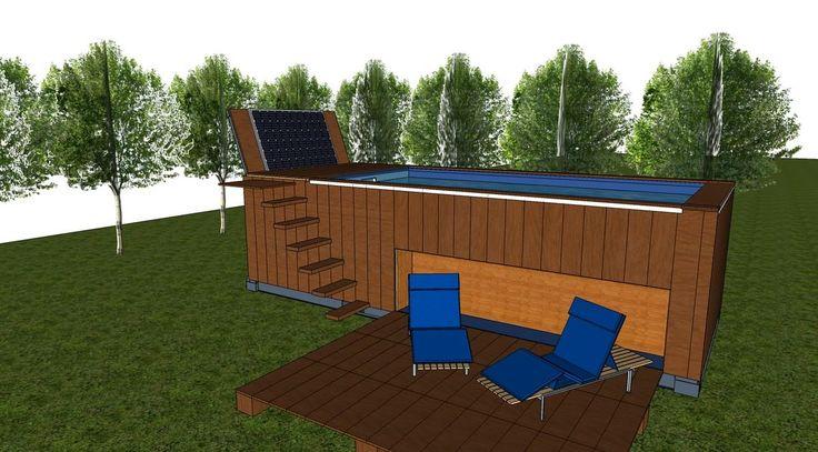 De 20 b sta id erna om piscine coque polyester p pinterest modele de maison moderne - Piscine container ...