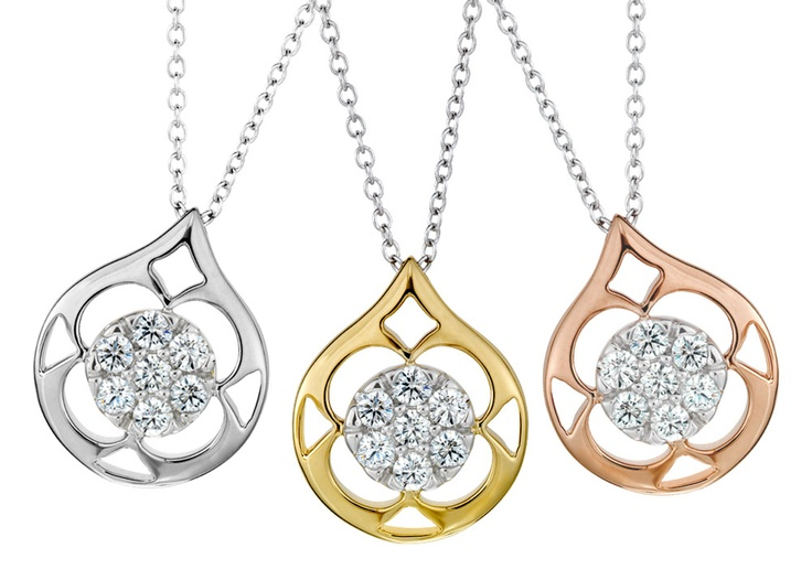 The beautiful Hearts On Fire Copley pendant comes in rose gold, white gold, and yellow gold! #diamonds #gold #jewelry
