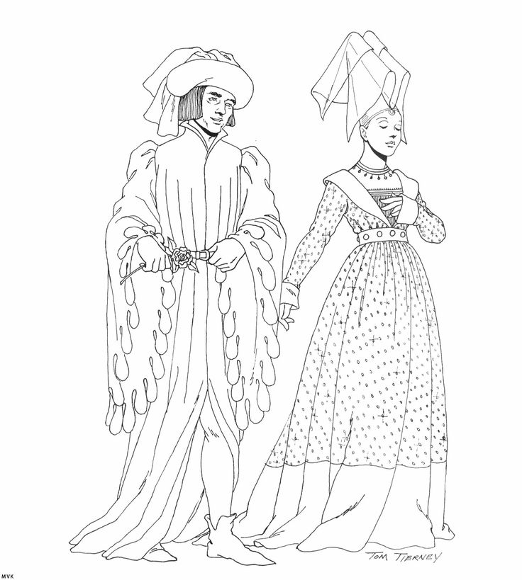 1000 images about coloring pages mode people on pinterest for Middle ages coloring pages