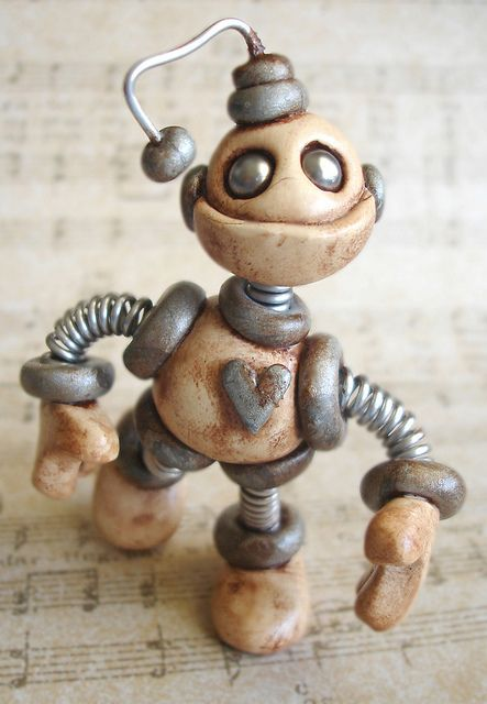 Gray Gram Grungy Bot   http://www.etsy.com/shop/RobotsAreAwesome