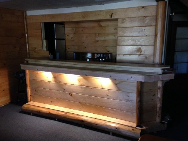 Home Bar With Wood Paneling Cedar Paneling Wood Paneling Natural Stain Wood