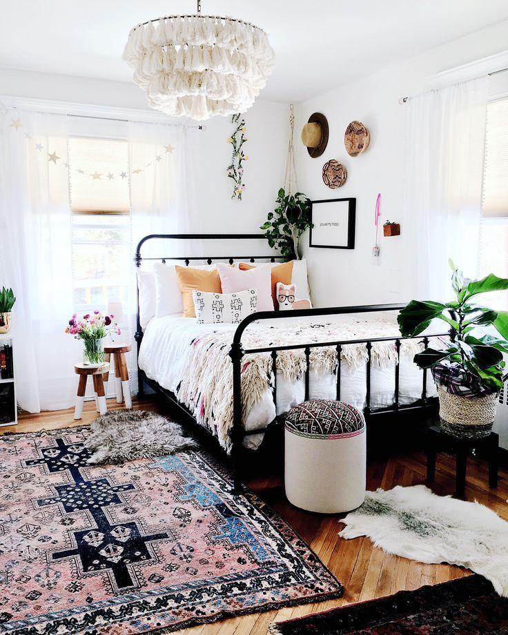 Boho trifft nordischen Stil in einem kühnen Haus in New Jersey für sechs Häuser