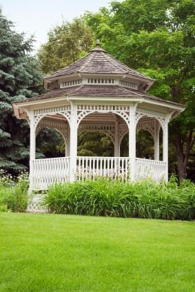 """I've already told Adam that *if* we build a gazebo, it """"has"""" (LOL) to be a step or two off the ground.  That's just the way it is. HA"""