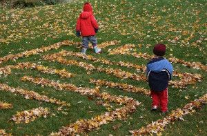 Looking for fun outdoor activities to do in the fall? Learn How to Make a Leaf Maze! Who says you need to rake ;) | AllFreeKidsCrafts.com