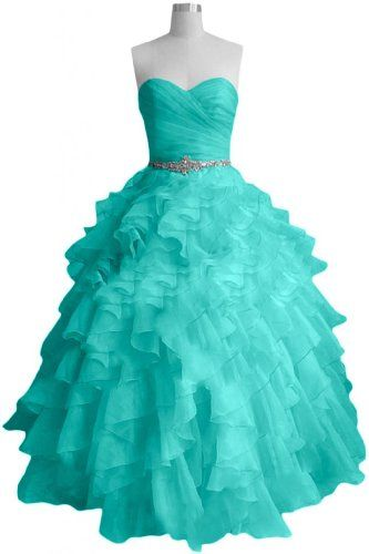 Prom Dresses -  Sunvary Fashion Sweetheart Ball Gown Organza Prom Dress Pageant Quinceanera Dress – US Size 14- Turquoise   - click image twice for more info - see more prom dresses at  http://azdresses.com/category/dress-categories/prom-dresses/- womens fashion, womens dresses, dress,evening gown    « AZdresses.com