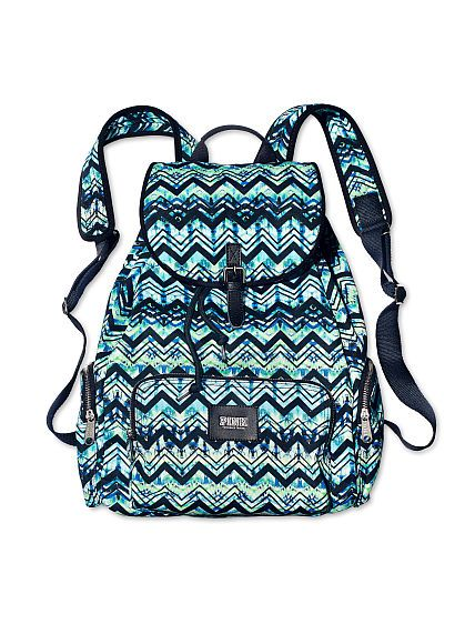 Blue/Green Chevron Backpack - VS http://www.victoriassecret.com/pink/25-off-bags-offer/backpack-pink?ProductID=139349&CatalogueType=OLS *