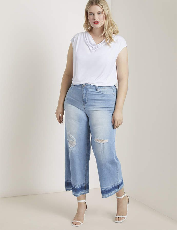 Wide Leg Crop Jean with Release Hem 3