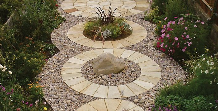 Mint Classic Circle Paving Slabs For Garden Patio 400 x 300