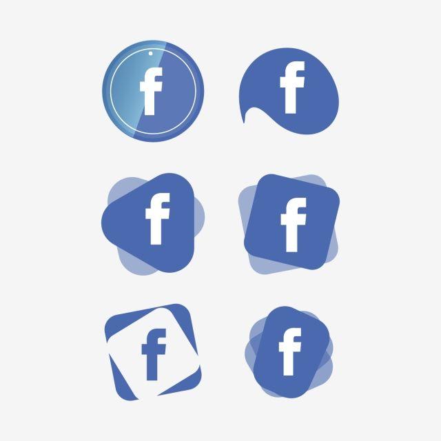 Facebook Icon Logo Collection Set Social Media Vector Illustrator