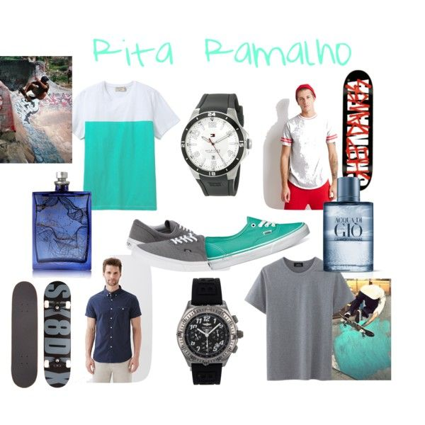 Skater guy by ritinha-ramalho on Polyvore featuring Maison Kitsuné, Forever 21, Vans, Breitling, Tommy Hilfiger, The Beautiful Mind Series, Giorgio Armani and Dawgs