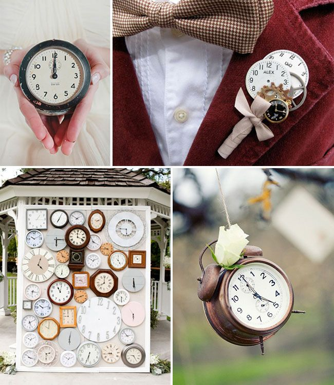 Clock Wedding Inspiration--and Happy New Year!