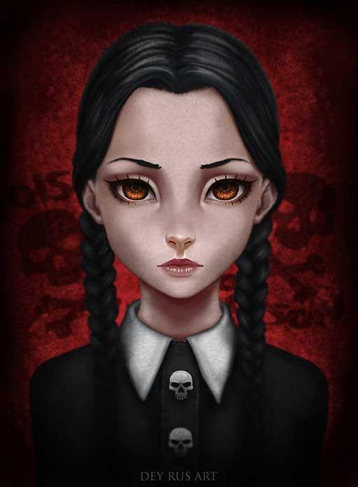 Wednesday Addams Fan Art by DeyRus on DeviantArt