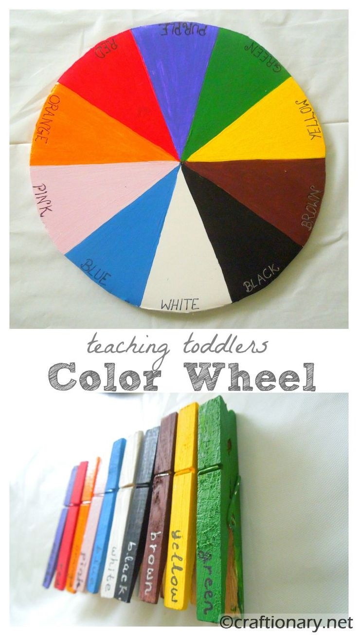 Color wheel art projects for kids - Color Wheel Teaching Kids Colors