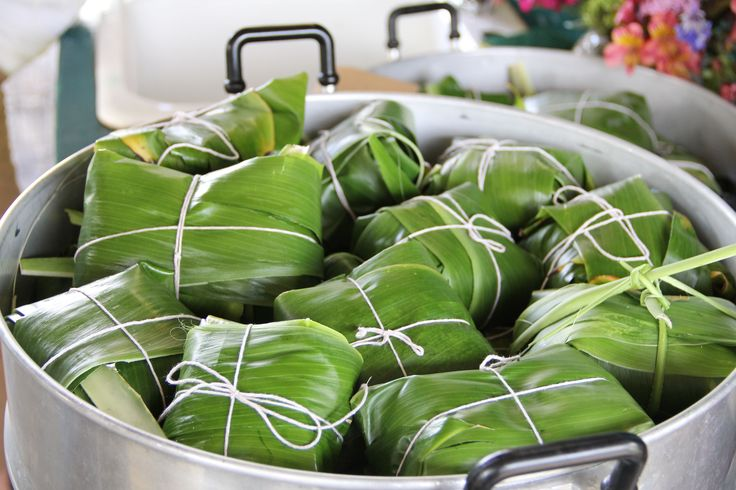Steamed Uku Laulau With Ginger Scallion Sauce Recipe What Is This Sauces And Peeps