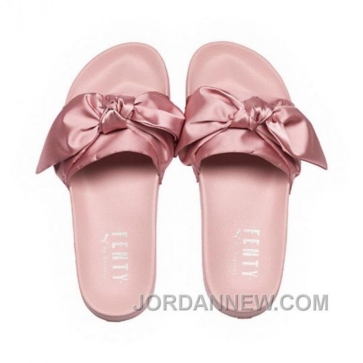 Puma X Fenty Bow Slides Silver Pink-Puma Silver Women Sandals Style Number  365774-