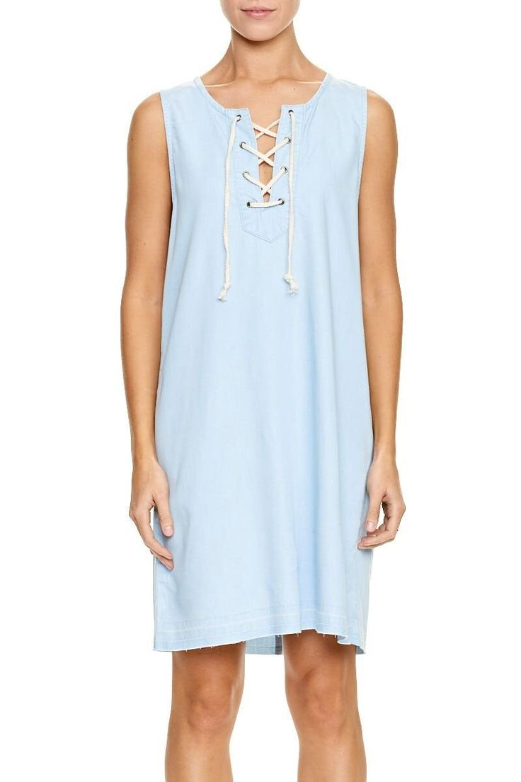 ELWOOD CLOTHING - Layla Dress Light Indigo