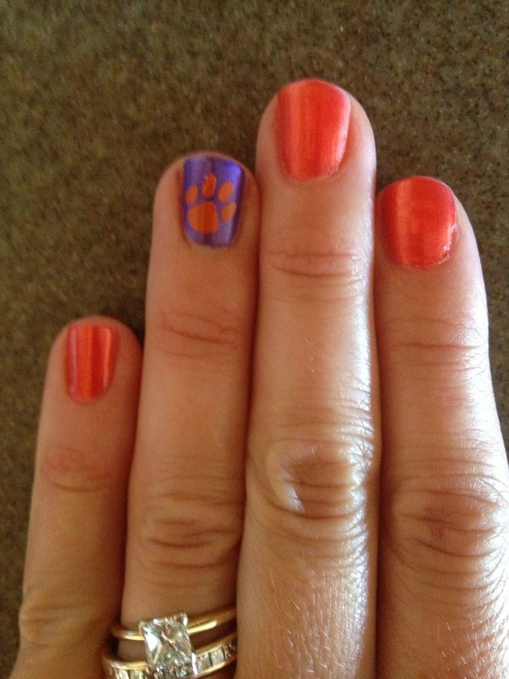 23 best Clemson Tigers Nails and Hair images on Pinterest | Clemson ...