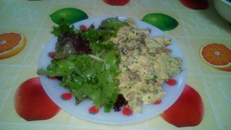 Bimby: Omelete de Cogumelos e Atum a Vapor