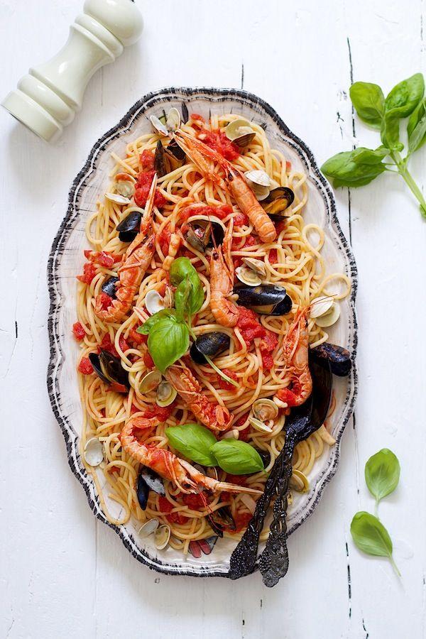 receta espagueti fruti di mare