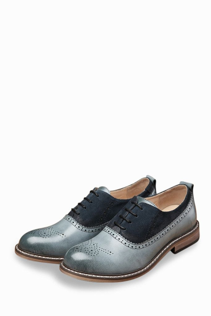 Brogue Men's Dress Rounded Toes Shoes In Blue. Free 3-7 days expedited  shipping