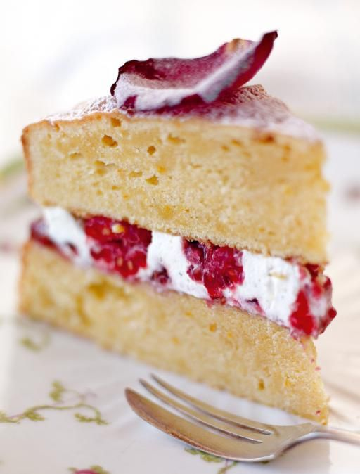 Queen Victoria sponge with raspberry and Jersey Cream filling - Jamie Oliver