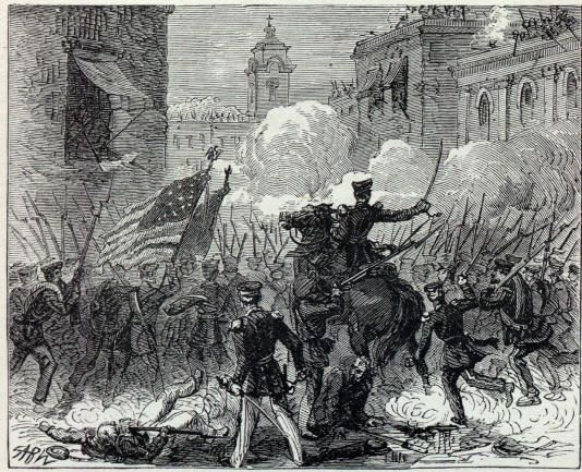 The American plan appeared stalled and Zachery Taylor was fighting a defensive war against unyielding Mexicans. Description from history-of-american-wars.com. I searched for this on bing.com/images