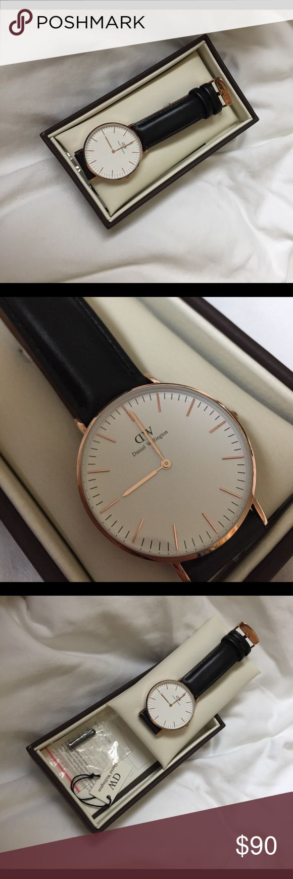 DANIEL WELLINGTON classic Sheffield BNWT only worn once for a photo, ALL OG tags in tact! absolutely flawless! real leather band! cheaper through 🅿️🅿️ Daniel Wellington Accessories Watches