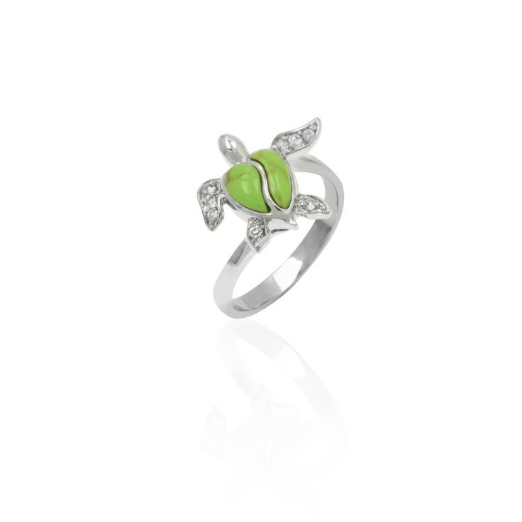green turtle silver ring a sterling silver turtle ring