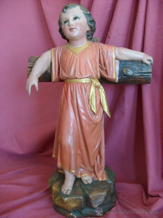 NIÑO JESUS  TALLA DE MADERA S. XX (Arte - Arte Religioso - Escultura)