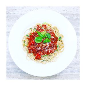 Vegetarische bolognese: laag in vet, hoog in eiwit
