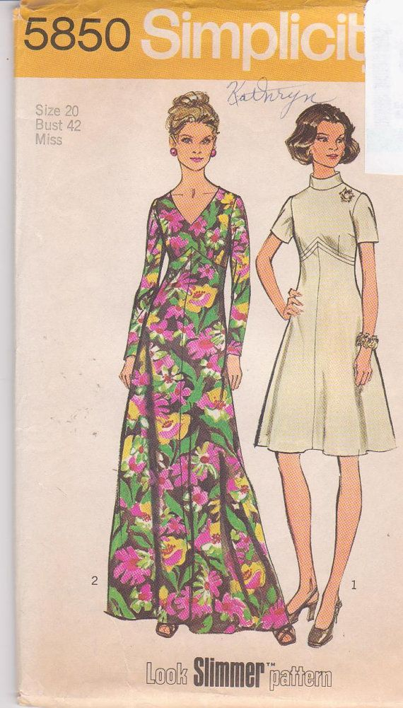 1970s vintage sewing pattern fit and flare by beththebooklady, $6.99