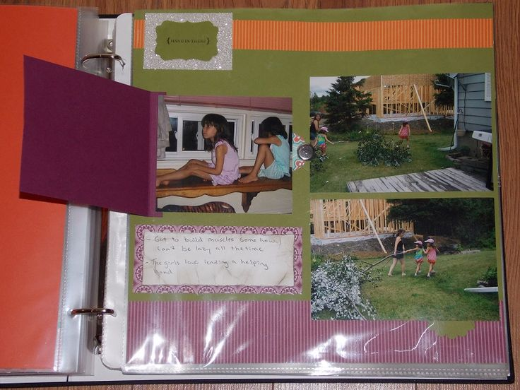 Page with flip pocket open All products used to make this card are from Stampin Up!