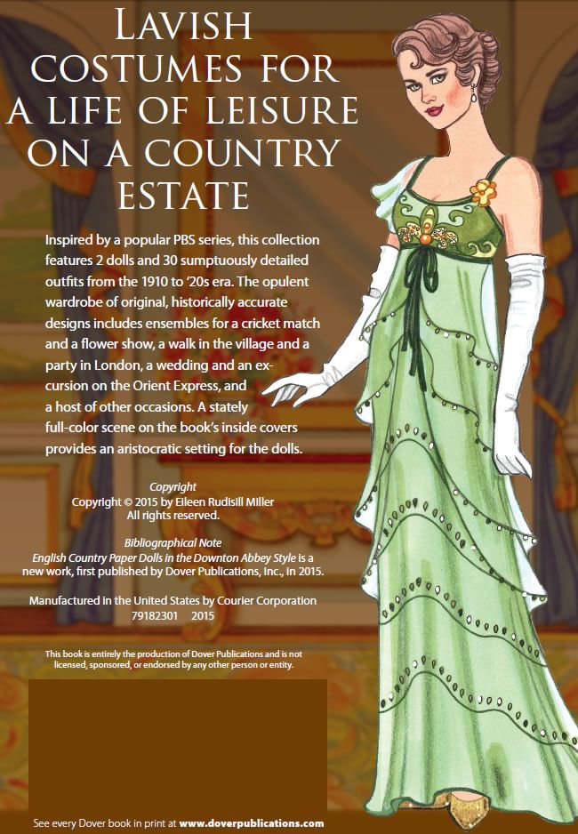 English Country Paper Dolls DOWNTON ABBEY About This Book SAMPLES Welcome  To Dover Publications 1 Of