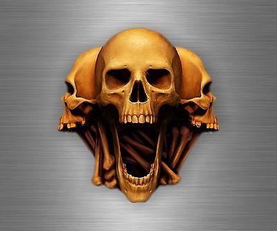 Sticker car motorcycle helmet decal chopper biker skull skeleton r1