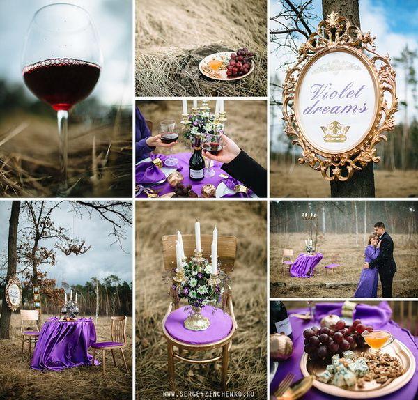 Фиолетовая фотосессия #wedding #violet #lovestory