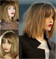 Image result for long hairstyle bob with bangs