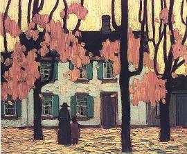 Houses in the Ward, Autumn - Lawren Harris