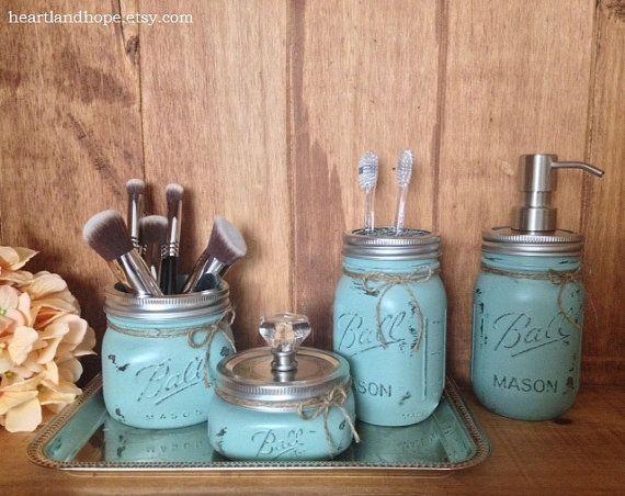 Best Rustic Bathroom Canisters Ideas On Pinterest Farmhouse