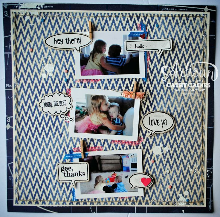 Fun way to use the Just Sayin' stamp set.: Bubbles Stampinup, Scrapbook Ideas, 2014 Scrapbook, Layout Ideas, Artisan Wednesday, Artisan Design, Cat Caves, Scrapbook Layout, Scrapbook Pages