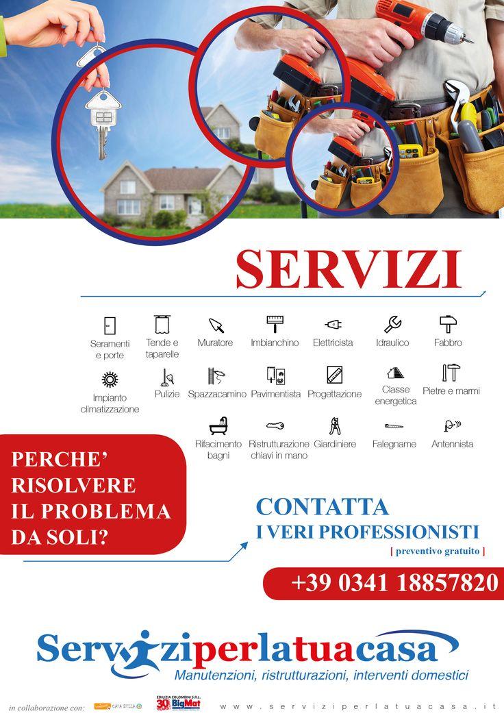 Creazione ed impaginazione di una locandina per una società che propone servizi per la casa. #edilizia #servizi #home #homeservice #sicurezza #serviziperlatuacasa