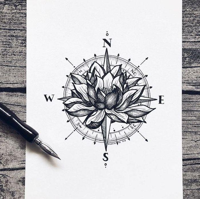 ▷ 1001 + idées de tatouage fleur de lotus et son symbolisme