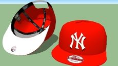 3D Model of New York Red 9FIFTY New Era SNAPBACK white